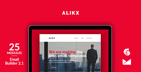 Alikx Email Template + Online Emailbuilder 2.1 by web4pro