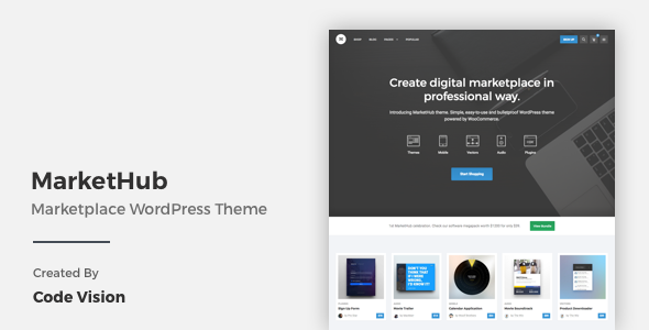 MarketHub - Marketplace WordPress Theme