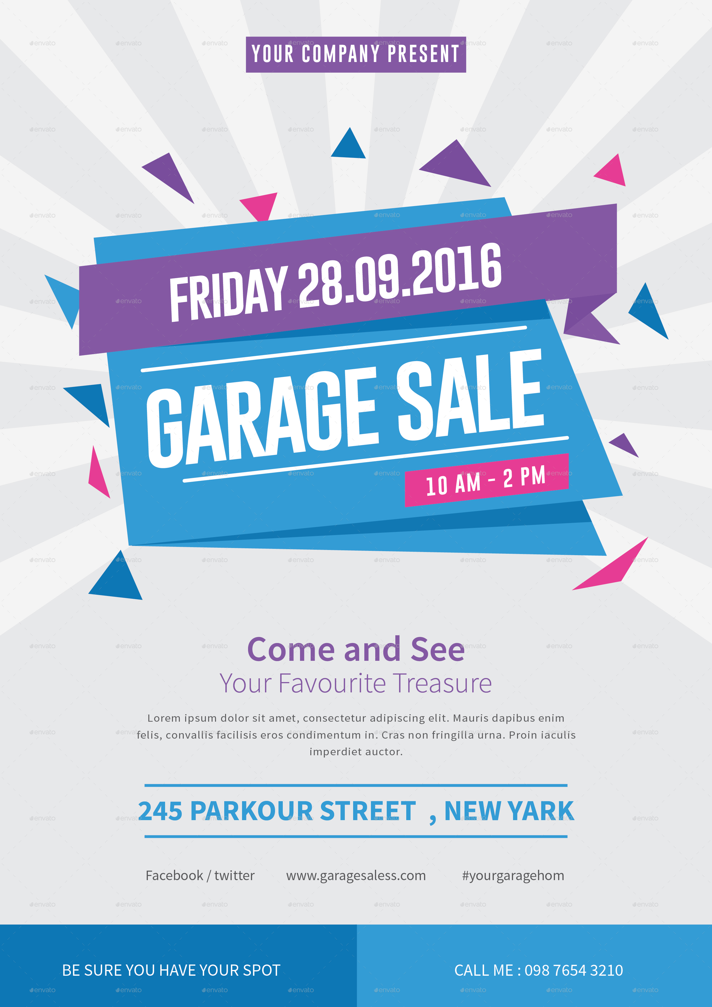 Garage Sale Flyer by tokosatsu | GraphicRiver