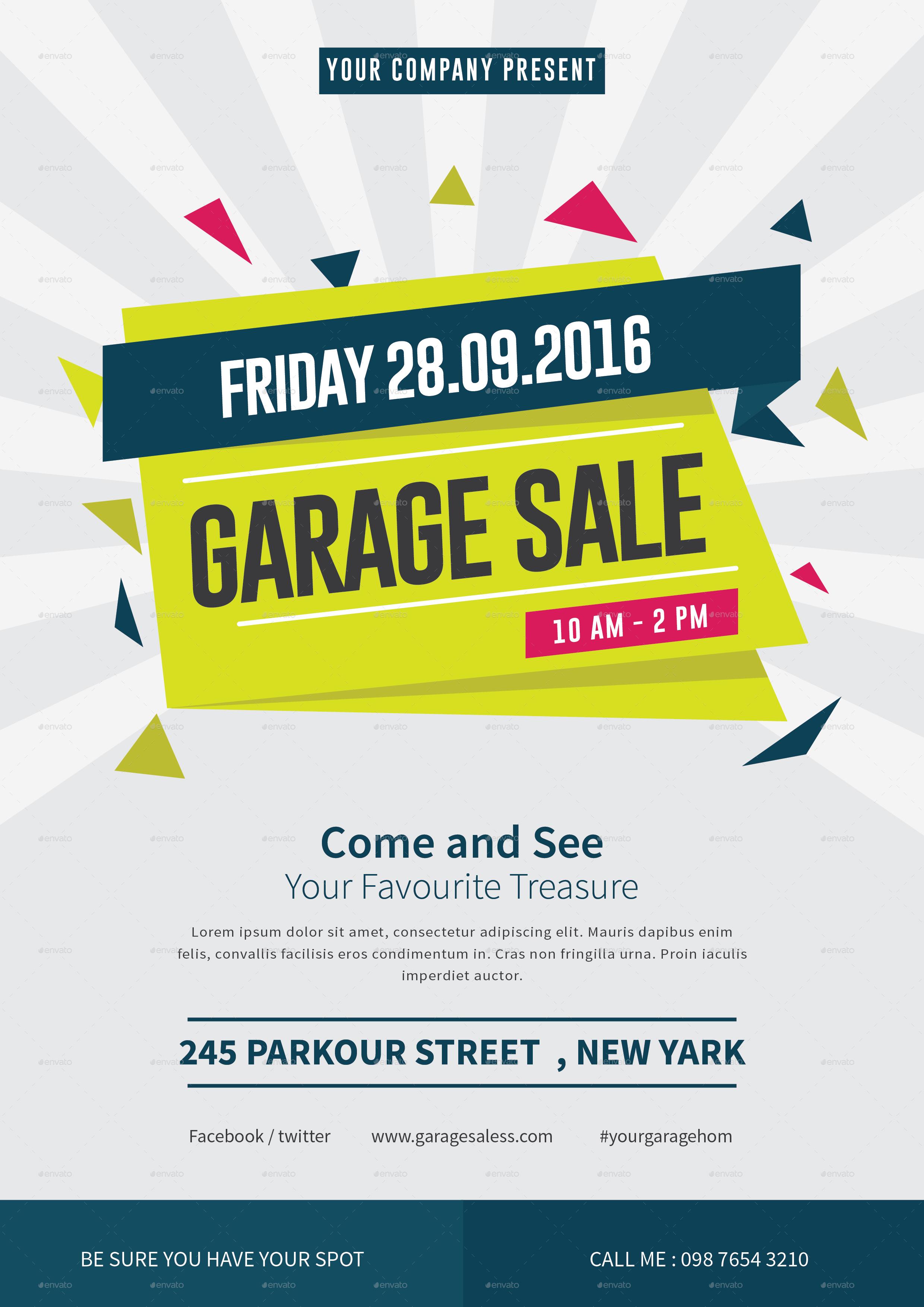 Garage Sale Flyer By Tokosatsu