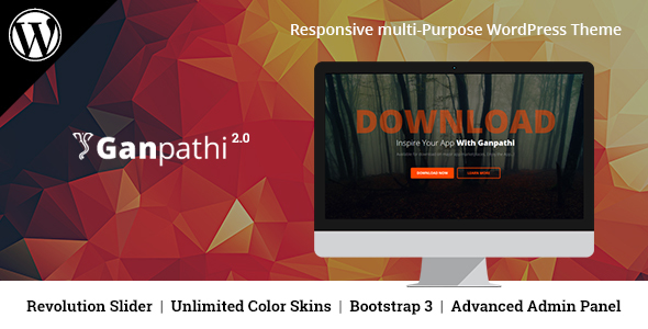 Ganpathi - Responsive App Landing Page WordPress Theme - Marketing Corporate
