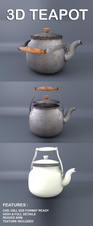 3D Teapot  - 3DOcean Item for Sale