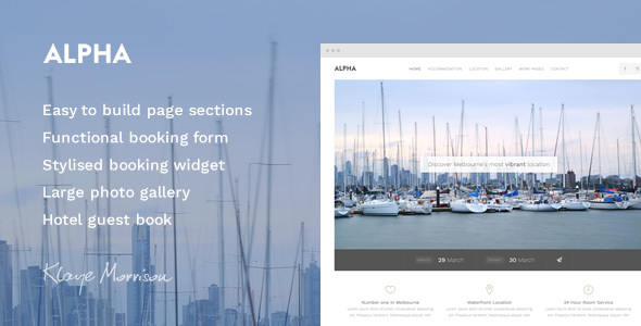 Alpha Hotel - Website Template - Travel Retail