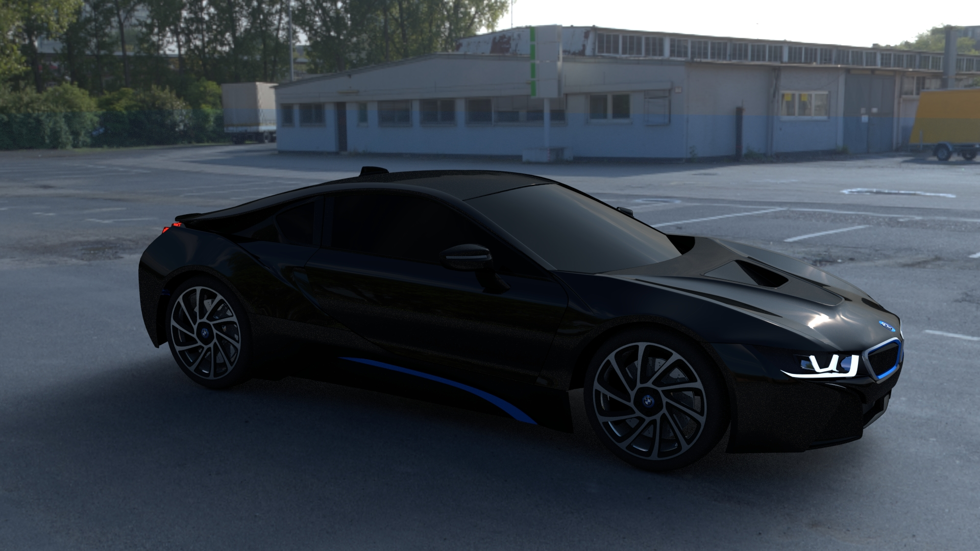 BMW I8 Black HDRI
