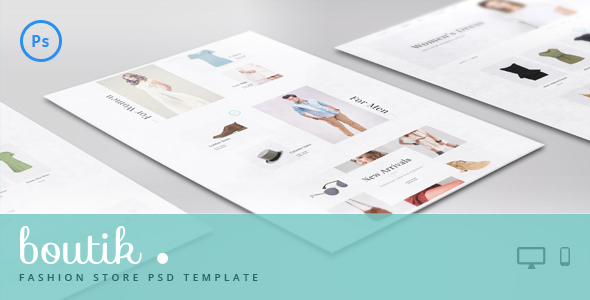 Boutik – Fashion Store PSD Template