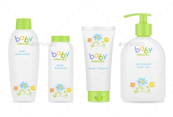Baby Cosmetic Tubes with Kids Design - Man-made Objects Objects