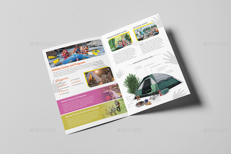 Kids Summer Camp A Brochure Template By Wutip GraphicRiver - A5 brochure template