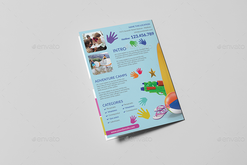 Kids Summer Camp A5 Brochure Template By Wutip2 Graphicriver