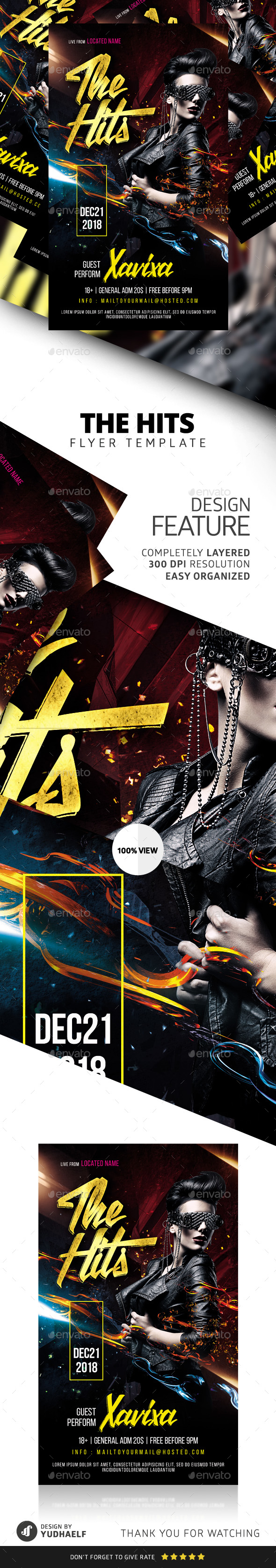 Hits Party Flyer - Clubs & Parties Events