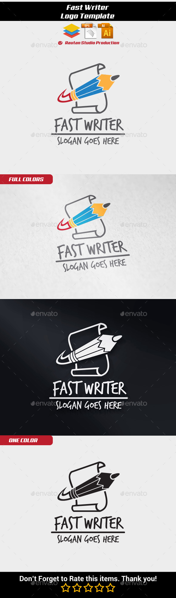 Fast Writer - Objects Logo Templates