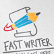 Fast Writer - GraphicRiver Item for Sale