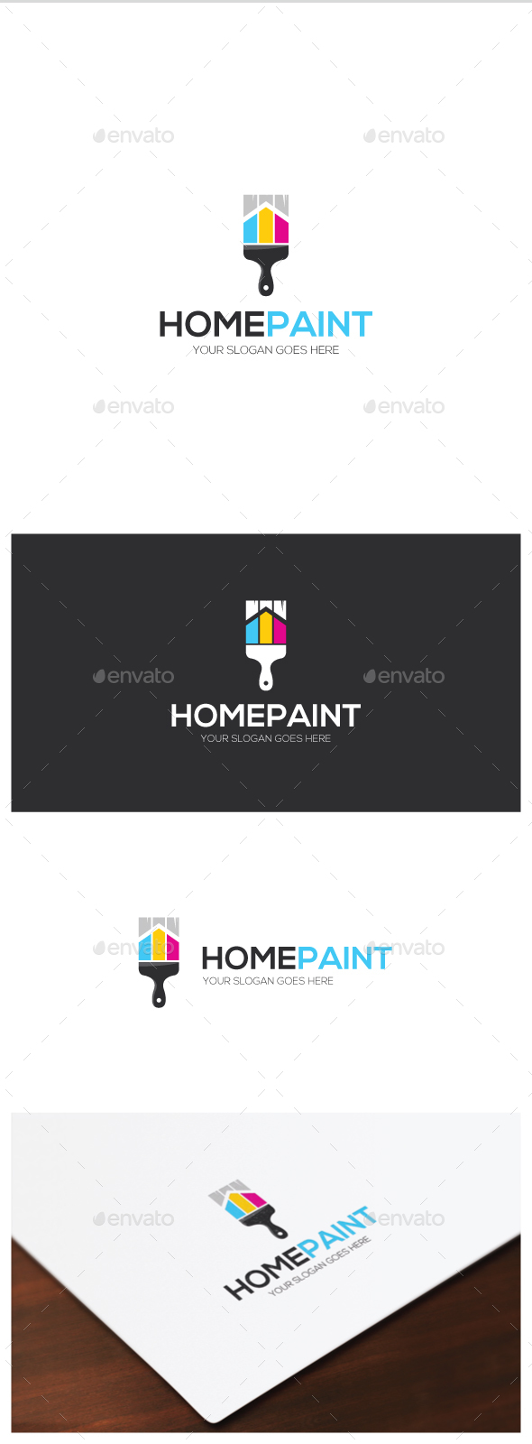Home Paint Logo - Objects Logo Templates