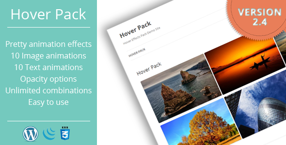Hover Effects Pack - WordPress Plugin - CodeCanyon Item for Sale