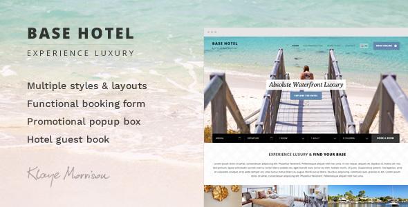 Base Hotel - HTML Template - Travel Retail