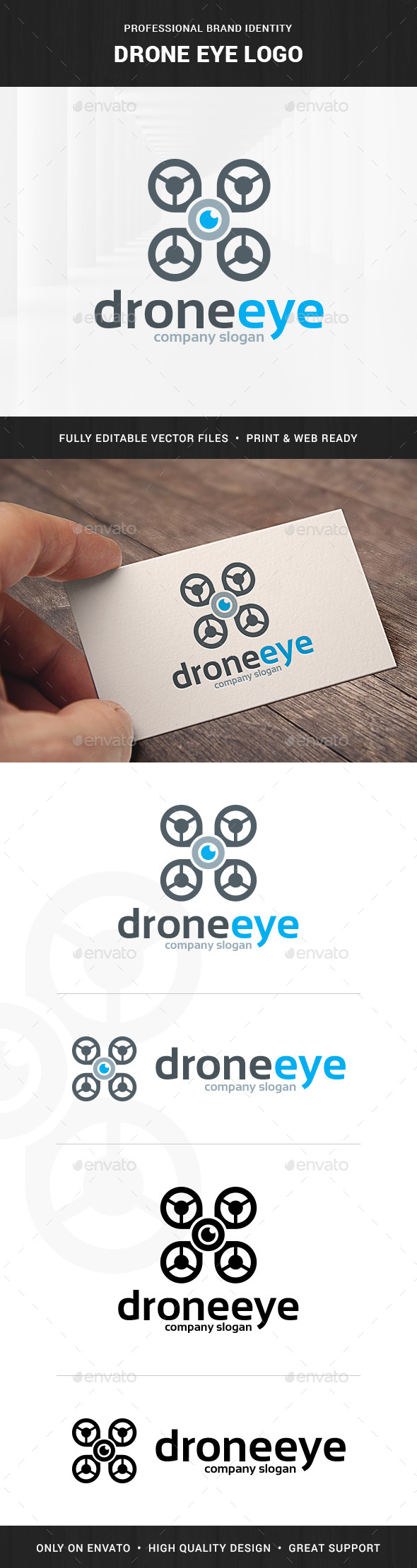 Drone Eye Logo Template - Objects Logo Templates