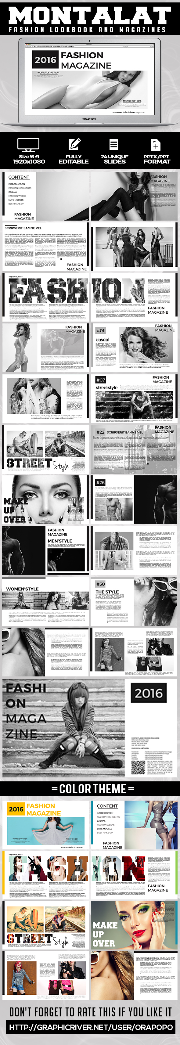 Montalat ~ Fashion Lookbook And Magazines  - Creative PowerPoint Templates