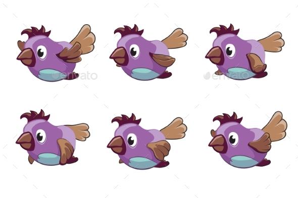 Bird Animation Frames - Animals Characters