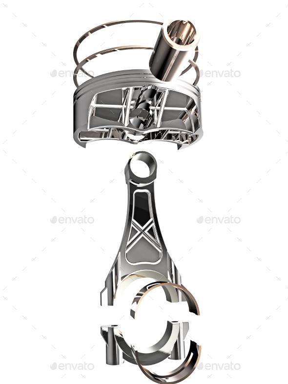 Piston 3D Render - Objects 3D Renders
