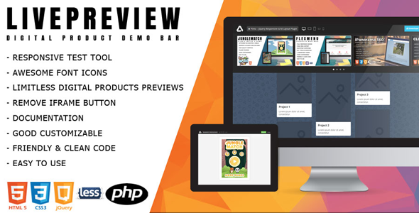 LivePreview - Responsive Digital Product Demo Bar - CodeCanyon Item for Sale