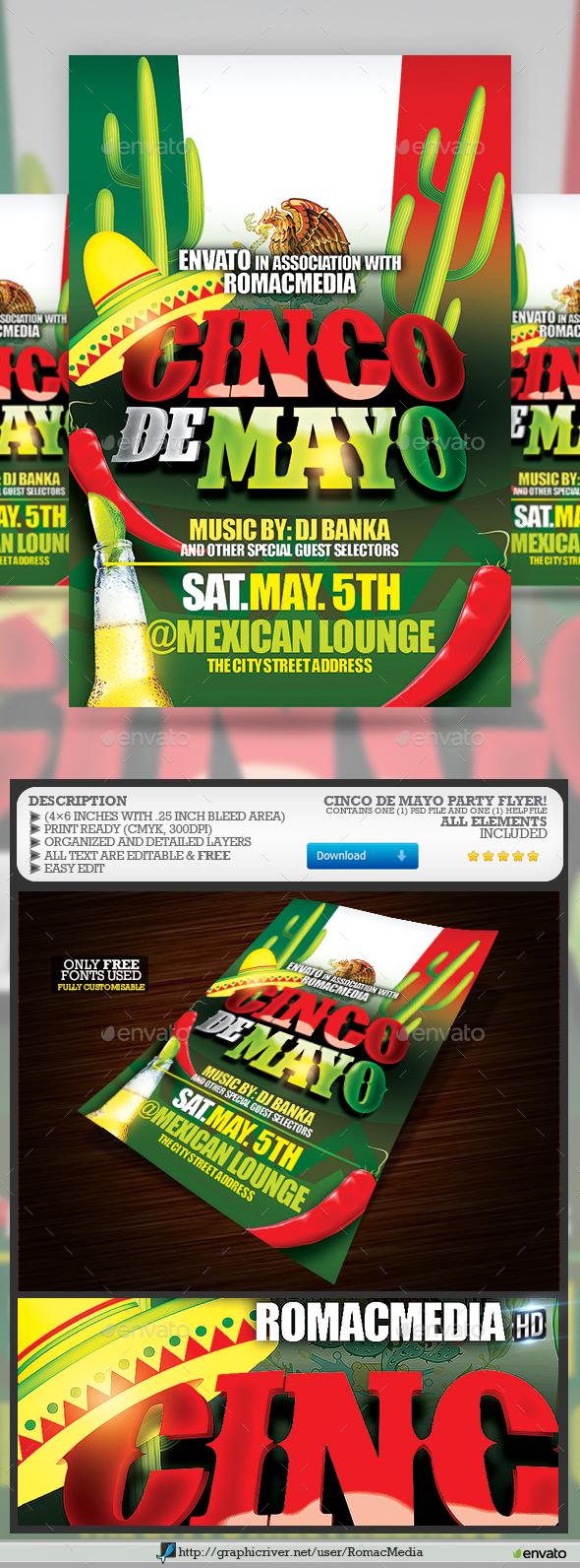 Cinco De Mayo Party  - Clubs & Parties Events