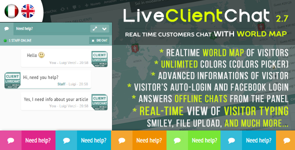 Live Client Chat - Help Chat With Visitors Map - CodeCanyon Item for Sale