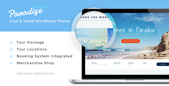 Paradize - WordPress Tour/Travel Theme