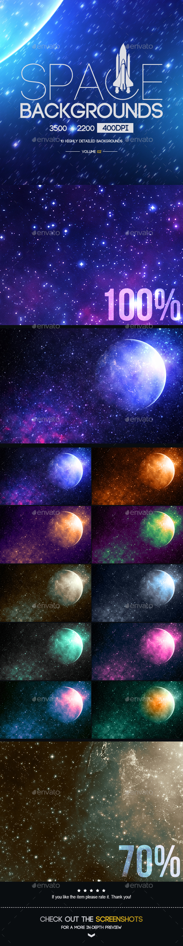 Space Backgrounds [Vol.2] - Tech / Futuristic Backgrounds