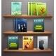 Magazines on Shelves