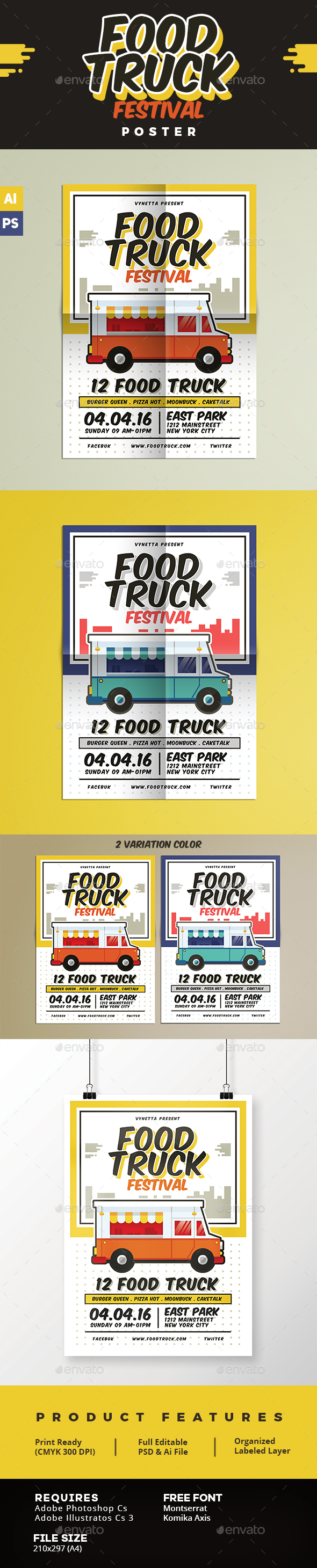 Food Truck Festival Poster - Events Flyers
