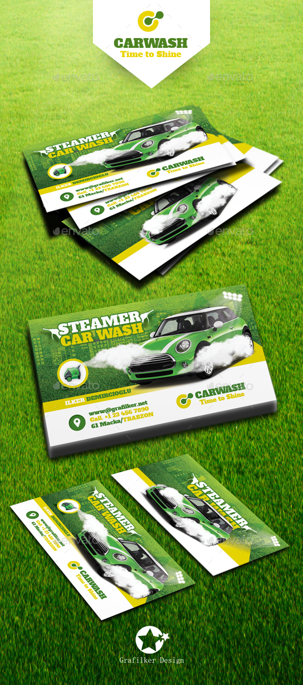 car wash business card templates business cards print templates - Car Wash Business Cards