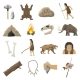 Stone Age Icons - GraphicRiver Item for Sale