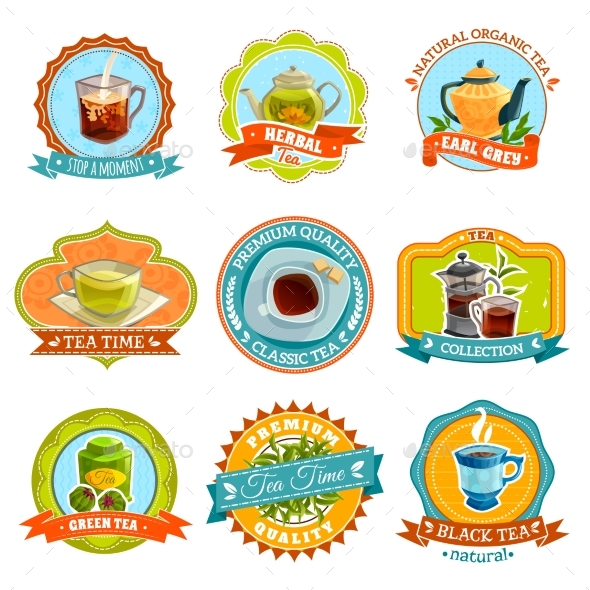 Tea Label Set - Food Objects