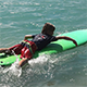 Boy Paddling on a Surfboard - VideoHive Item for Sale