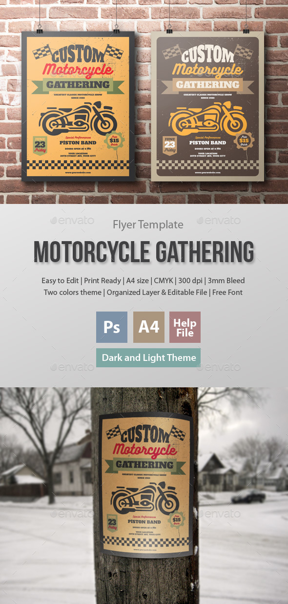 Motorcycle Gathering Flyer Template - Events Flyers