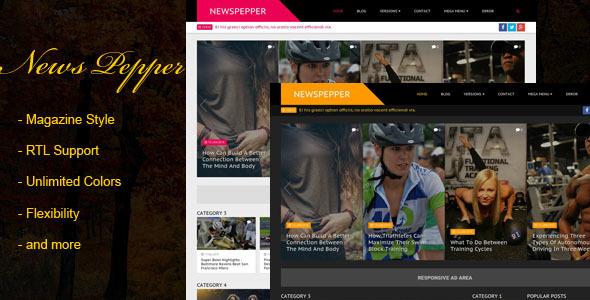 NewsPepper - Responsive Blogger Magazine - Blogger Blogging