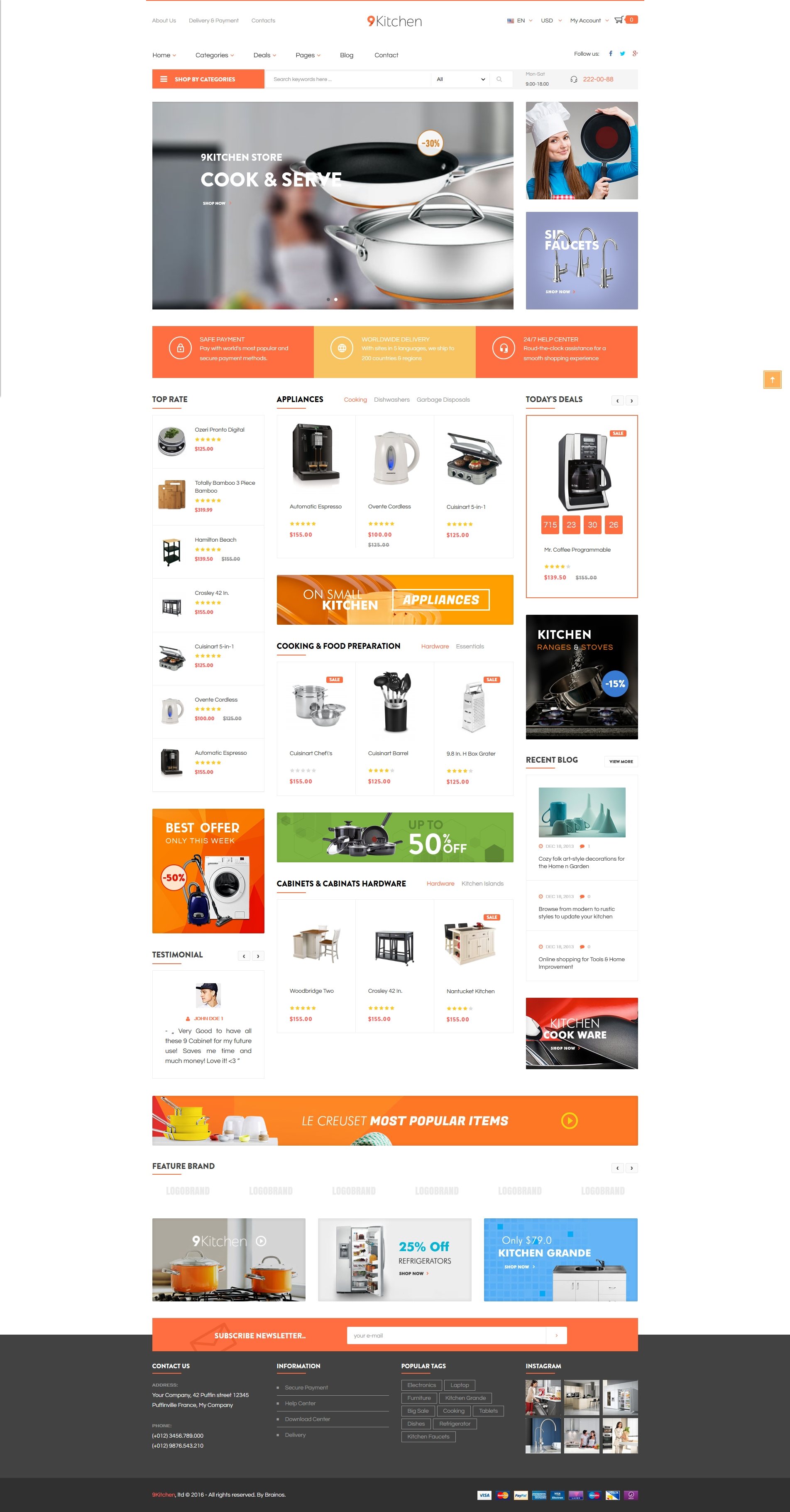 Ecommerce Store Kitchen Supplies