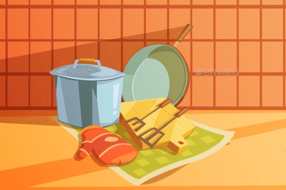 Kitchen Utensils Illustration  - Man-made Objects Objects