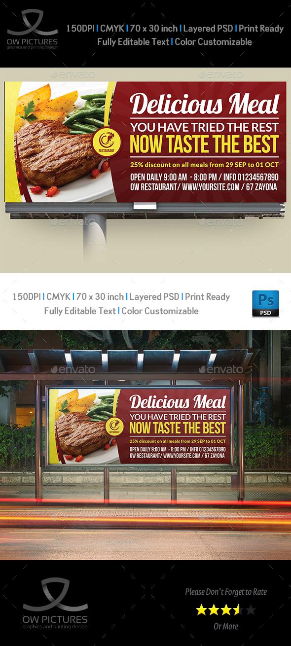 Restaurant Billboard Template Vol.4