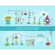 Science and Education Laboratory Flat Banner