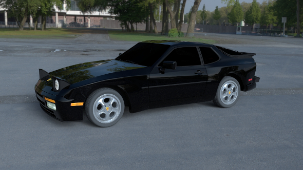 Porsche 944 Turbo HDRI - 3DOcean Item for Sale