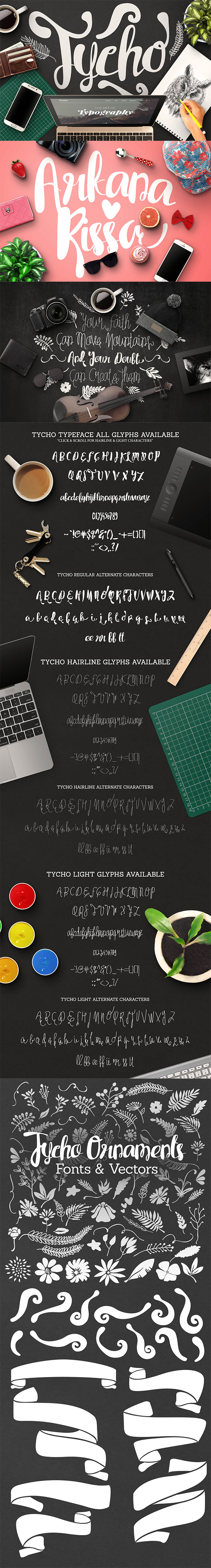Tycho Typeface - Hand-writing Script