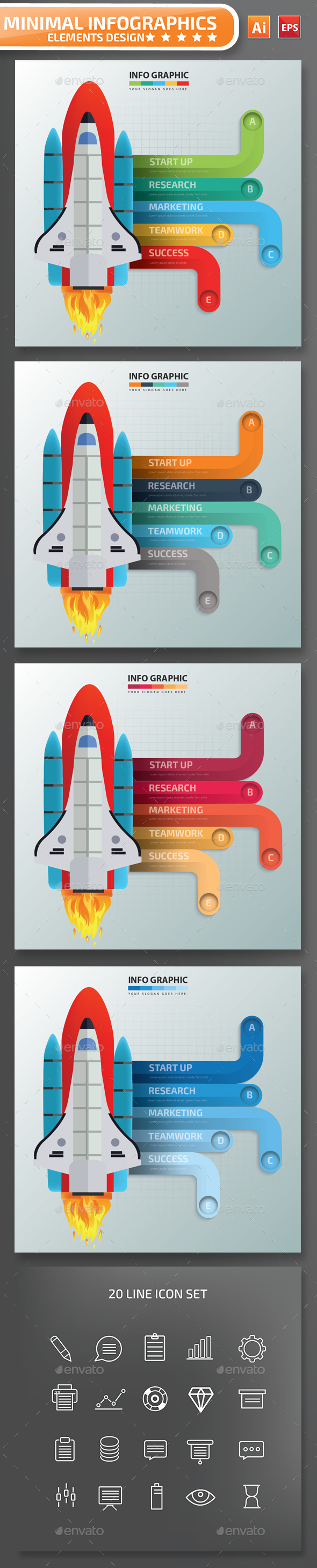 Minimal Start up infographic Design - Infographics