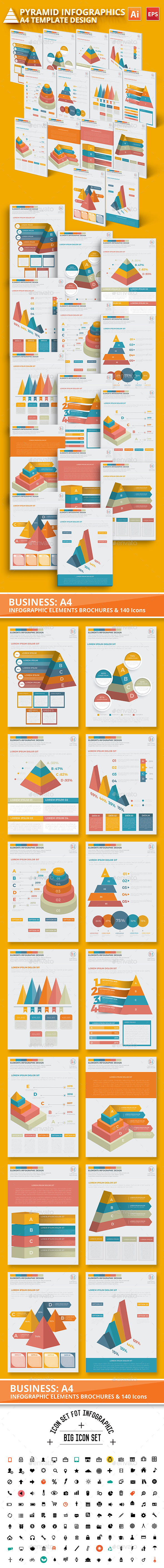 Pyramid Infographic Elements Design - Infographics