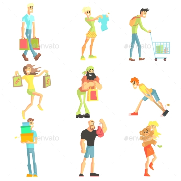 People Shopping Collection - People Characters