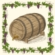 Wooden Oak Barrel with Iron Rims - GraphicRiver Item for Sale