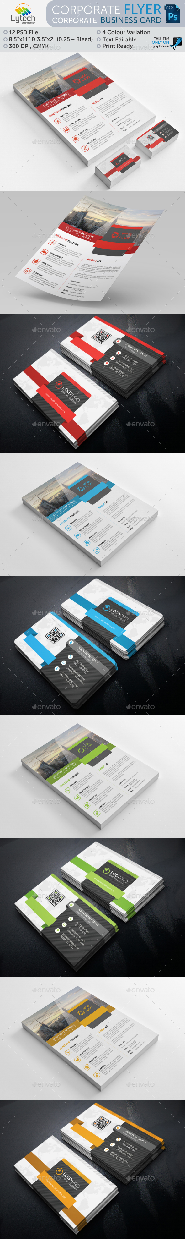 Corporate Flyer + Business Card (Bundle 2 in 1) - Corporate Flyers