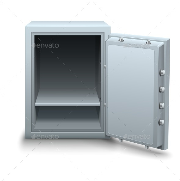 Empty Bank Safe for Money Business Concept Icon - Man-made Objects Objects