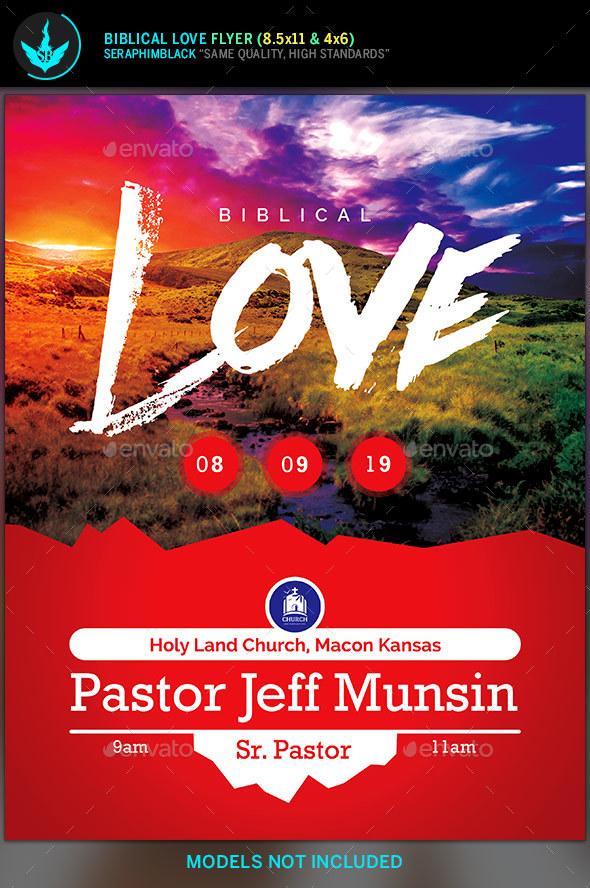 Biblical Love Church Flyer Template - Church Flyers