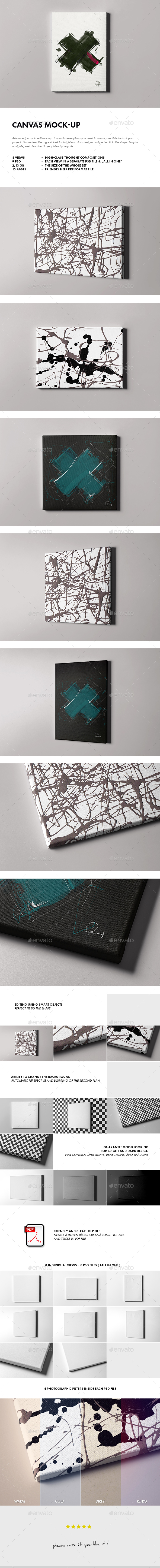 Canvas Mock-up - Miscellaneous Displays