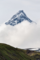 Mountain Landscape of Kamchatka: Kamen Volcano in Clouds - PhotoDune Item for Sale